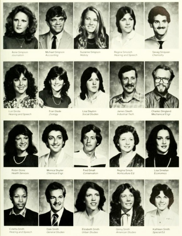 A Page From The University Of Maryland Class 1982 College Yearbook